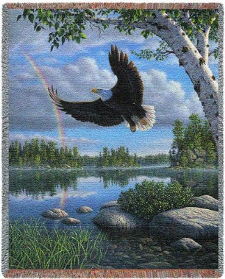 On Eagles Wings (Tapestry Throw)