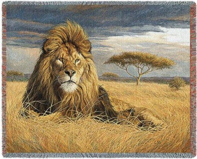 King Of The Pride (Tapestry Throw)