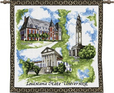 Louisiana St University Wh Wood Rod (Wall Hanging with Wood Rod)