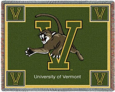University Vermont Mascot (Tapestry Throw)