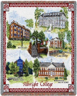 Albright College Collage (Tapestry Throw)