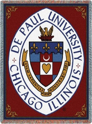 Depaul University Crest (Tapestry Throw)