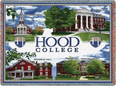University Hood College Collage (Tapestry Throw)
