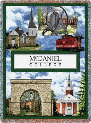 University Mcdaniel College Collage (Tapestry Throw)