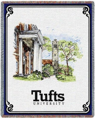 University Tufts University Collage (Tapestry Throw)