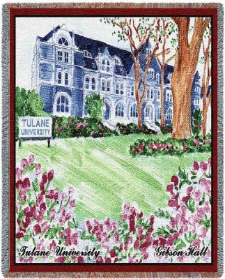 Tulane University Gibson Hall (Tapestry Throw)