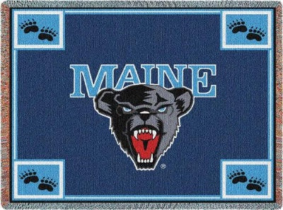 University Maine Mascot (Tapestry Throw)