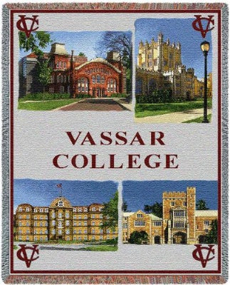 University Vassar College Collage (Tapestry Throw)