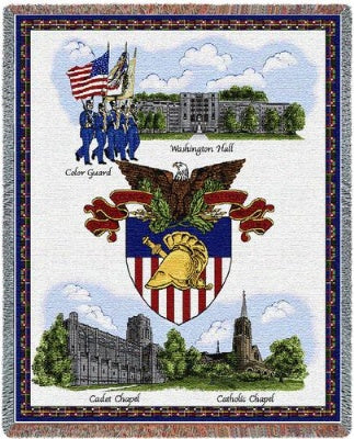 University West Point Collage (Tapestry Throw)