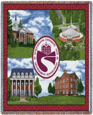 Susquehanna Emblem Buildings (Tapestry Throw)