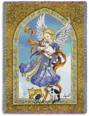 Angel and Cats (Tapestry Throw)