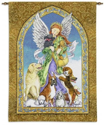 Angel and Dogs (Wall Hanging)