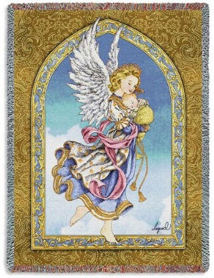 Angel and Baby (Tapestry Throw)
