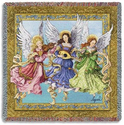 Angelic Trio Lap Square (Tapestry Throw)