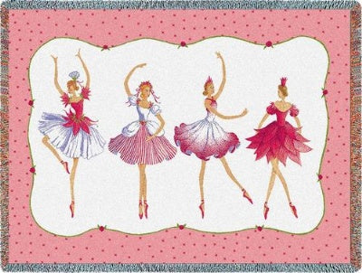 Four Ballerinas Tapestry (Tapestry Throw)