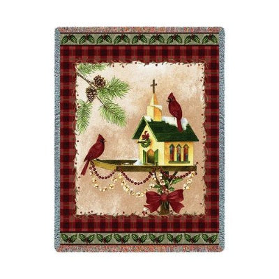 Christmas In The Garden (Tapestry Throw)