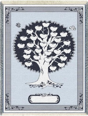 Monogram Tree Blue (Afghan)