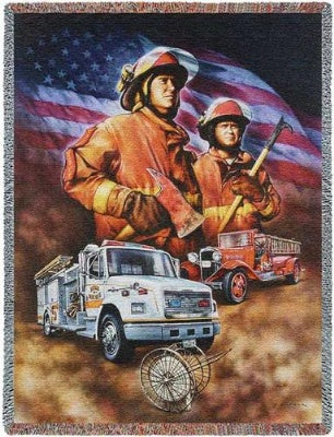 Firefighter (Tapestry Throw)