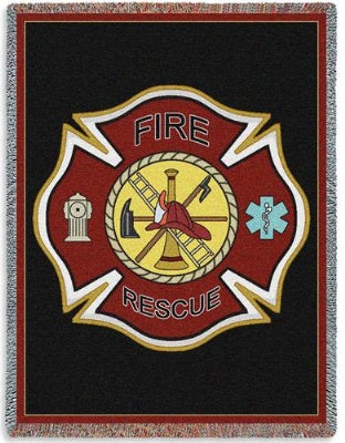Firefighter Shield Tap (Tapestry Throw)