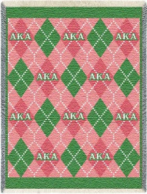 Alpha Kappa Alpha Plaid (Afghan)