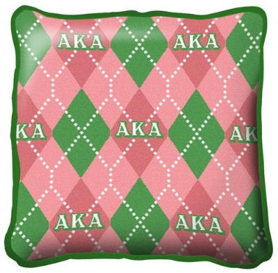 Alpha Kappa Alpha Plaid Pillow (Pillow)