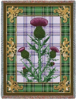 Flowering Thistle (Tapestry Throw)