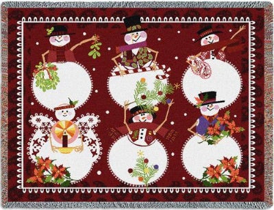 Six Snowman (Tapestry Throw)