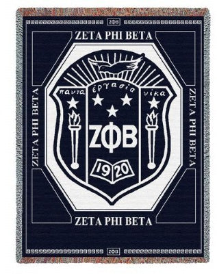 Zeta Phi Beta (Tapestry Throw)