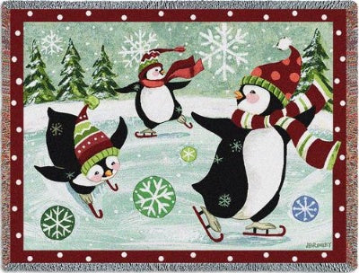 Christmas Penguin (Tapestry Throw)