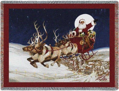 Merry Christmas To All Tap (Tapestry Throw)