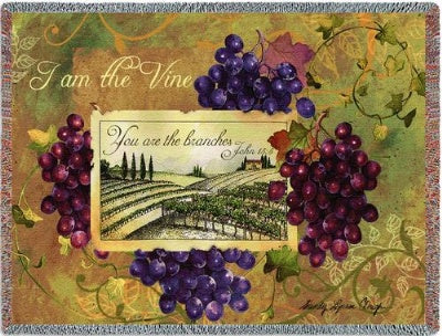I am the Vine (Tapestry Throw)