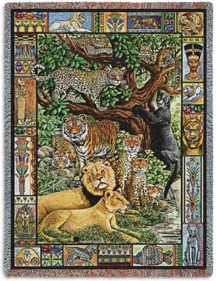 Venerable Cats (Tapestry Throw)