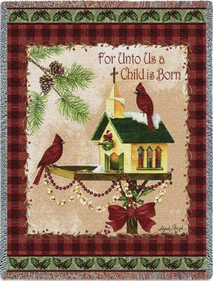 Christmas/Garden Script (Tapestry Throw)