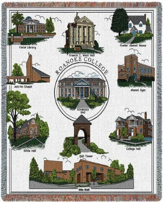 Roanoke College Collage (Tapestry Throw)