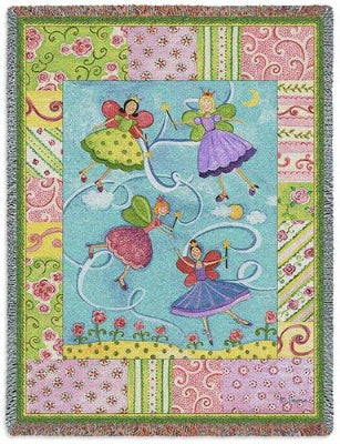 Patchwork Fairies (Tapestry Throw)