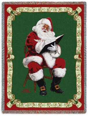 Santas Notes by Donald Zolan (Tapestry Throw)