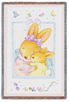 Baby Bunny Hugs Mini (Tapestry Throw)
