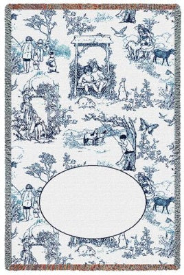 Childhood Toile Blue Mini (Tapestry Throw)
