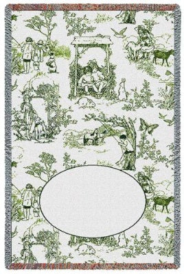 Childhood Toile Green Mini (Tapestry Throw)