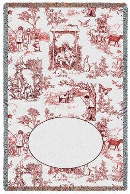 Childhood Toile Red Mini (Tapestry Throw)
