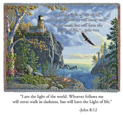 Guiding Light John 8:12 (Tapestry Throw)