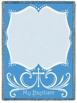 Baptismal Cross Blue (Afghan)