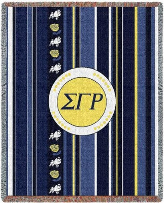 Sigma Gamma Rho Stripe (Tapestry Throw)