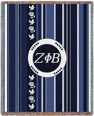 Zeta Phi Beta Stripe (Tapestry Throw)