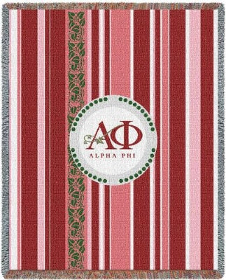Alpha Phi Stripe (Tapestry Throw)