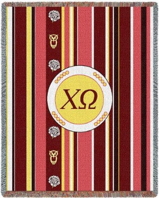 Chi Omega Stripe (Tapestry Throw)