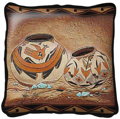 Zuni Pottery Pillow (Pillow)