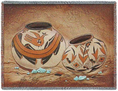 Zuni Pottery (Tapestry Throw)