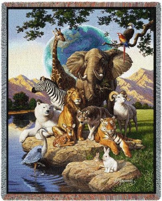 World Animals (Tapestry Throw)