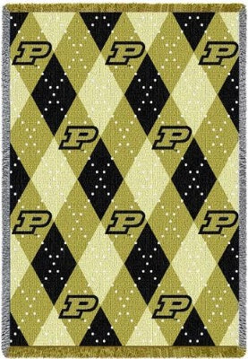 Purdue University Plaid WOD 5 (Afghan)